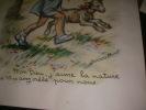 """""""MON DIEU J'AIME LA NATURE..."""". [GRAVURE ANCIENNE] GERMAINE BOURET"""