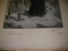 ABNEGATION. [GRAVURE ANCIENNE] JONAS LUCIEN