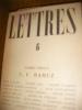 LETTRES N°6 1945- NUMERO SPECIAL C.F. RAMUZ. CLAUDEL- GIDE-CHAMSON-DINGRIA-STAROBINSKI-ROUD-E.Thomas-TISSOR-A. BEGUIN-DE ...