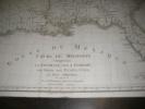 GOLFE DU MEXIQUE - COURS DU MISSISSIPI COMPRENANT LA LOUISIANE LES 2 FLORIDES UNE PARTIE DES ETATS-UNIS ET PAYS ADJACENTS. [CARTE GEOGRAPHIQUE ...