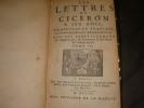 LES LETTRES DE CICERON A SES AMIS TRADUITES EN FRANCAIS ,LE LATIN A COTE,SUIVANT L'EDITION DE GRAEVIUS (TOME IV). CICERON
