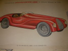 LOT DE 12 PLANCHES AUTOMOBILES EN COULEURS.