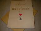 MEMORIAL DE LA LEGION D'HONNEUR 1953. LEGION D'HONNEUR