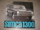 CATALOGUE SIMCA 1300. [AUTOMOBILE] SIMCA 1300