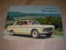 404 PEUGEOT. CATALOGUE AUTOMOBILE