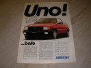 FIAT UNO! ...BELLE. CATALOGUE AUTOMOBILE
