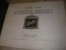 LIVRE D'OR DES CAMIONS BERLIET.  BERLIET