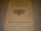 BIBLIOTHEQUE DE M. GEORGES MOREAU ANCIEN ASSOCIE DE LA LIBRAIRIE LAROUSSE- VENTE LES 10 11 12 13 DECEMBRE 1934. CATALOGUE DE VENTE