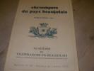 CHRONIQUES DU PAYS BEAUJOLAIS- PUBLICATION 1997- BULLETIN N°20- TRAVAUX DE L'ANNEE 1996. COLLECTIF