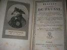BEAUTES DE L'HISTOIRE DE PRUSSE OU PRECIS DES ANNALES DE CE PEUPLE ET DES DIVERSES CONTREES QUI FORMENT LA MONARCHIE PRUSSIENNE... NOUGARET P.-J.-B.