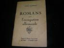 ROMANS SOUS L'OCCUPATION ALLEMANDE. PAILHEREY PAULIN