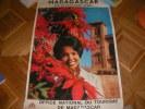 MADAGASCAR DIE GLUCKLICHE INSEL. [AFFICHE ORIGINALE] MADAGASCAR