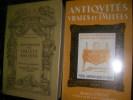 IDENTIFICATION DES OBJETS ANCIENS SUIVI d'UN COMPLEMENT DE ANTIQUITES VRAIES ET IMITEES (2 VOLUMES). CURTAT MARCEL