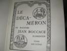 LE DECAMERON DE MAISTRE JEAN BOCCACE FLORENTIN (Tome 1 SEUL). BOCCACE JEAN