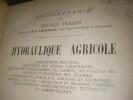 HYDRAULIQUE AGRICOLE. CHARPENTIER DE COSSIGNY J.