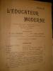 L'EDUCATEUR MODERNE- DECEMBRE 1908. COLLECTIF