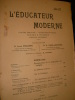 L'EDUCATEUR MODERNE- JUIN 1908. COLLECTIF