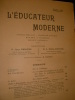 L'EDUCATEUR MODERNE- OCTOBRE 1908. COLLECTIF