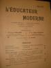 L'EDUCATEUR MODERNE- JUILLET 1908. COLLECTIF