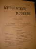 L'EDUCATEUR MODERNE- AVRIL 1908. COLLECTIF