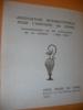 COMMEMORATION DU 20°ANNIVERSAIRE DE SA CREATION (1958-1978).. ASSOCIATION INTERNATIONALE POUR L'HISTOIRE DU VERRE