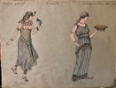 Histoire du Costume - . MANUSCRIT - COSTUMES -