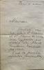 Lettre autographe signée au critique d'art Pierre Imbourg, de Paris, le 4 mars (vers 1969). 2 pages in-8°.  DELAUNAY Sonia ( née Sophia Illinitchna ...
