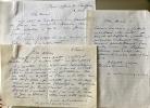3 lettres autographes signées.. WAROQUIER Henry de (Paris 1881- 1970), peintre, graveur, sculpteur, poète.