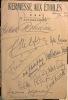 Couverture du programme du Dimanche 14 juin 1953, avec 19 signatures autographes de personnalités.. KERMESSE aux ETOILES. AUTOGRAPHES.