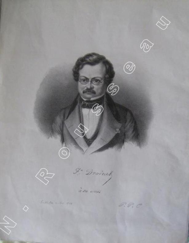Portrait . Félix Droinet à ses amis.. ( FOURIERISME )  - DROINET .