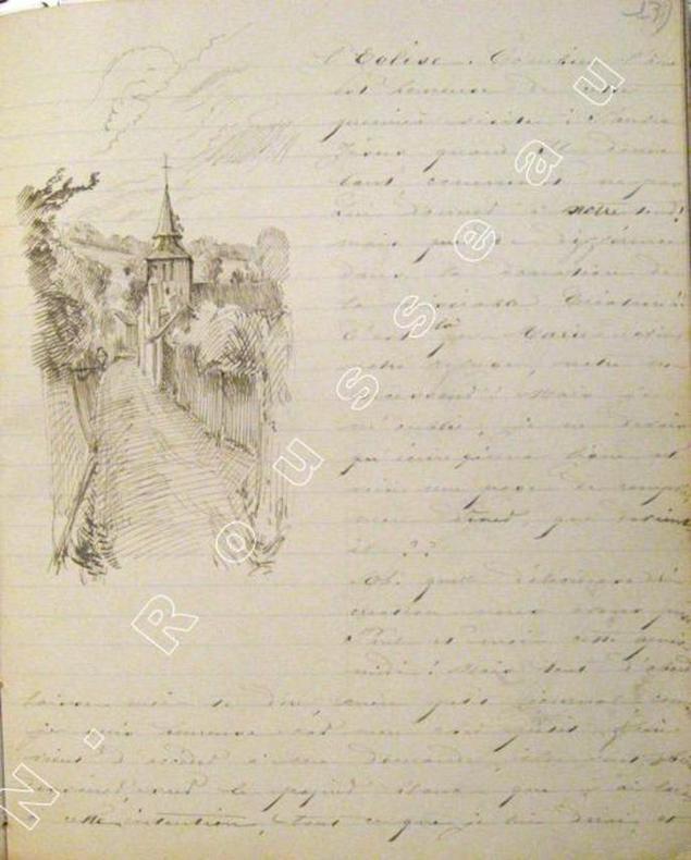 Voyage au bord de la mer à Sainte-Adresse. Juillet-Aout 1874.. ( MANUSCRIT) - BEAUVAIS Melle de et Paul.