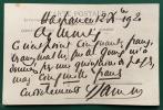Carte postale autographe signée représentant Francis Jammes assis contemplant une fleur avec au verso 7 lignes a.s.. JAMMES, Francis (Tournay, 1868 - ...