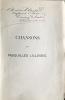 Chansons et Pasquilles Lilloises par Desrousseaux. Nouvelle édition avec musique.. CHANSONS - DESROUSSEAUX (A.).