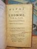 Essai sur l'Homme. Traduit de l'Anglois en François. Edition revue par le Traducteur . POPE (Alexander)