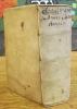 De Annis Climactericis et Antiqua Astrologia Diatribae. SAUMAISE (Claude)