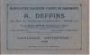 Manufacture parisienne d'Objets de Pansements A. Deffins... Maurice Deffins, Pharmacien... CATALOGUE ORTHOPEDIE 1928.. DEFFINS, A. (manufacturer).