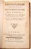 Dissertation sur l'Inutilit de l'Amputation des Membres. Traduite & augmente de quelques Remarques, par M. Tissot.. BILGUER, Johan Ulrich (1720-1796) ...