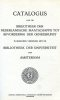 BIBLIOTHECA MEDICA NEERLANDICA. Catalogus librorum quos collegit Societas Neerlandica ad promovendam artem medicam ... Catalogus van de bibliotheek ...