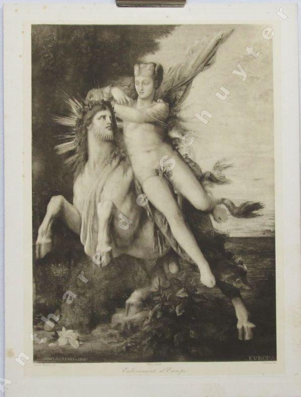 ENLÈVEMENT D'EUROPE. CHAUVET héliogravure d'après Gustave MOREAU