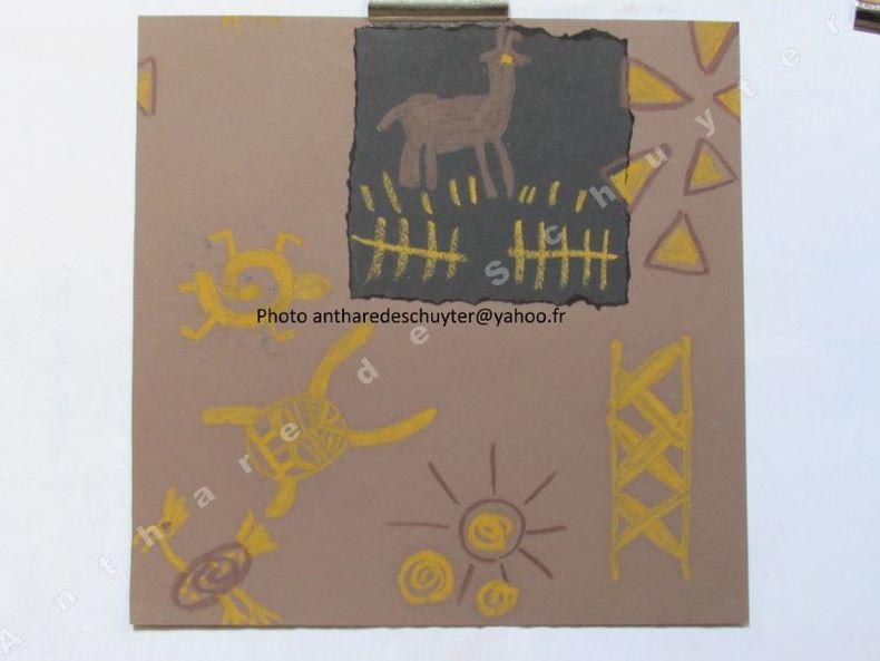 """DESSIN TEXTILE ORIGINAL  STYLE """"ART ETHNIQUE"""", Réf 4344. Anonyme, Arts appliqués"""