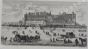 CHÂTEAU DE St GERMAIN EN LAYE EN 1658, d'après Israël SYLVESTRE gravure . Alfred Louis BRUNET-DEBAINES (1845-1939) (fac-similé)