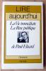 La Vie Immédiate, La Rose publique de Paul Eluard.. Baudouin (Dominique).