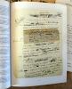 Lettres et Manuscrits Autographes, Documents Historiques. Ensemble de 6 catalogues de ventes aux enchères à Paris..