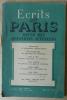 Ecrits de Paris. Revue des Questions Actuelles, N°54 avril 1949.. Dacier, Fabre-Luce, de Man; Général Barre...