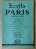 Ecrits de Paris. Revue des Questions Actuelles N°73 novembre 1950.. Dacier, Pleyber, Massis, Le Grix....