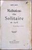 Méditations d'un solitaire en 1916.. Bloy (Léon).