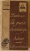 La Paix du Ménage-Adieu-Le Réquisitionnaire.. Balzac (Honoré de).