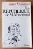 La république de M. Mitterrand;. Duhamel (Alain).