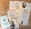 Fêtes du Rouergue et de l'amitié rouergate; menus divers; 10 documents.... Collectif.