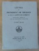 Lettres du Président De Brosses à CH.-C. Loppin De Gémeaux. Publiées pour la première fois avec une introduction et des notes.. [Yvonne Bezard].